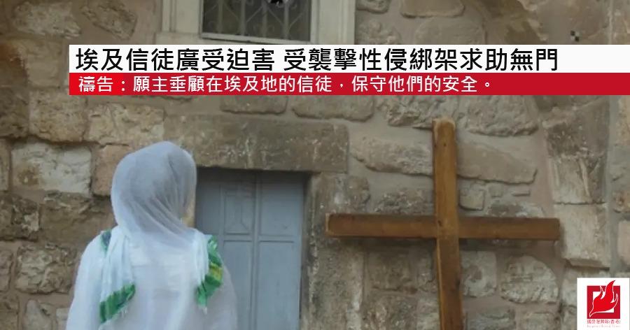 埃及信徒廣受迫害 受襲擊性侵綁架求助無門